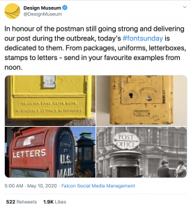 A nod to postal design